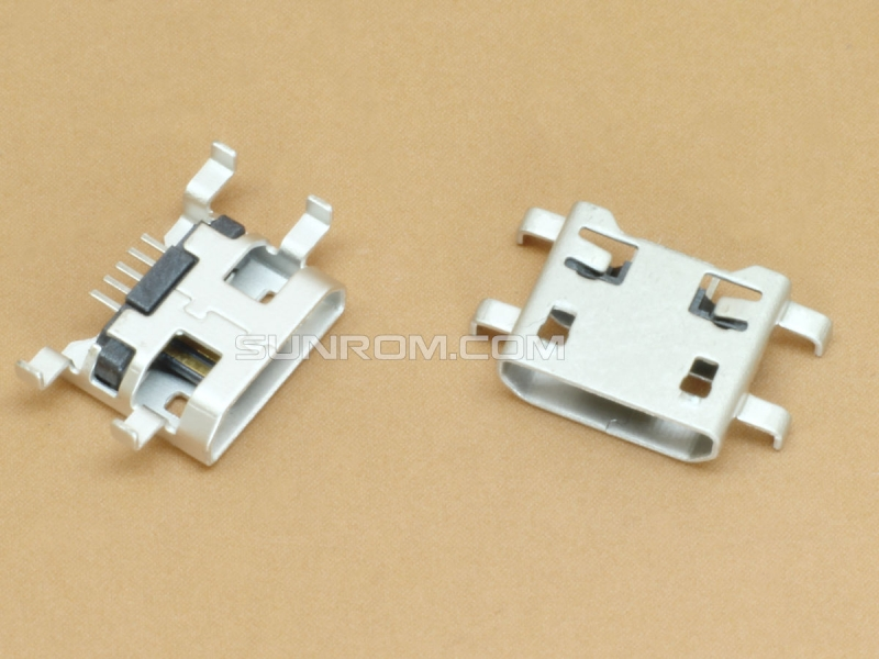 Micro Usb Connector B Female  5 Pin Smd