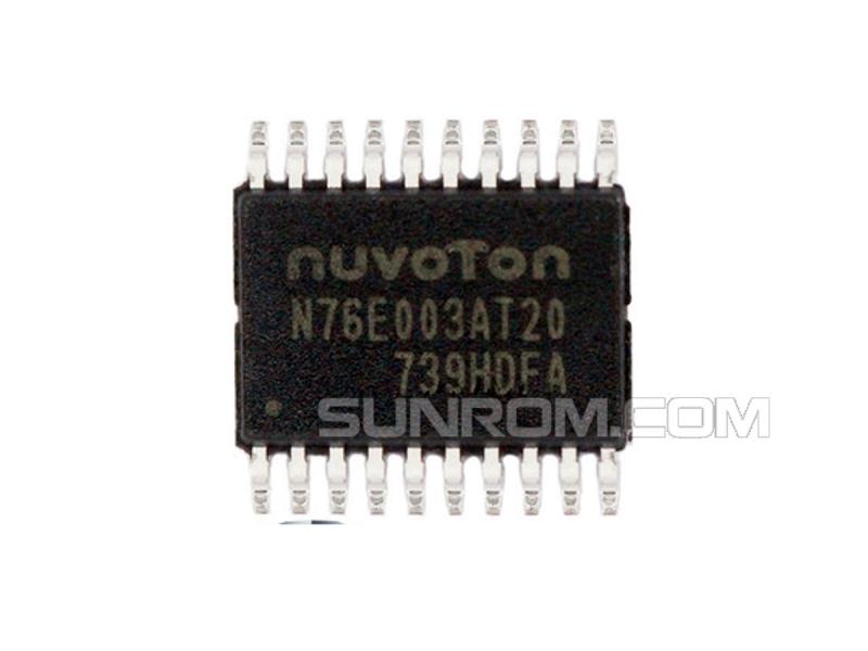 N76E003 - N76E003AT20 - Nuvoton - TSSOP20 - 1T-8051 - 16MHz - 12 bit