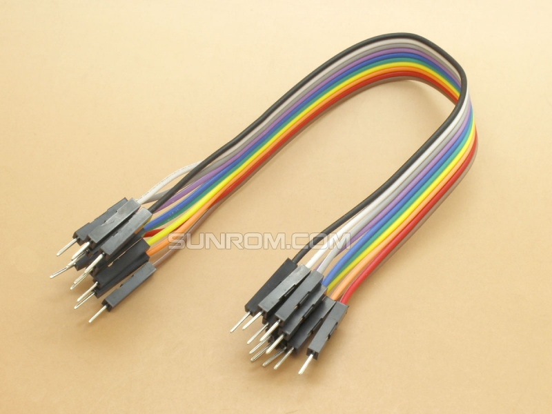 Jumper Wires - Male/Male - 10 way - 20cm (8 In)