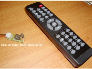 NEC format Remote + Serial Output Decoder