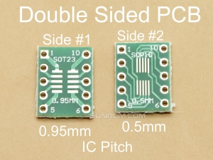 10 Pin 0.5/0.95mm ICs Adapter PCB