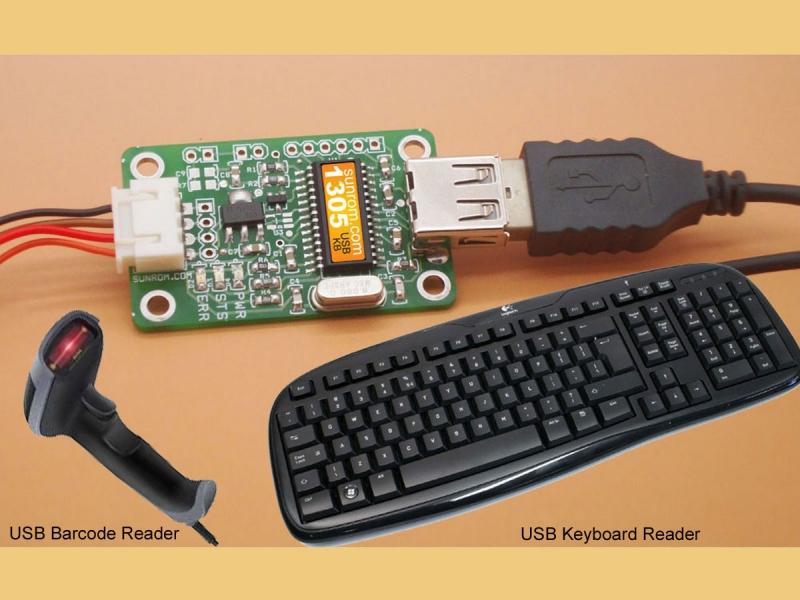 USB Keyboard - Serial Output [1305] : Sunrom Electronics/Technologies