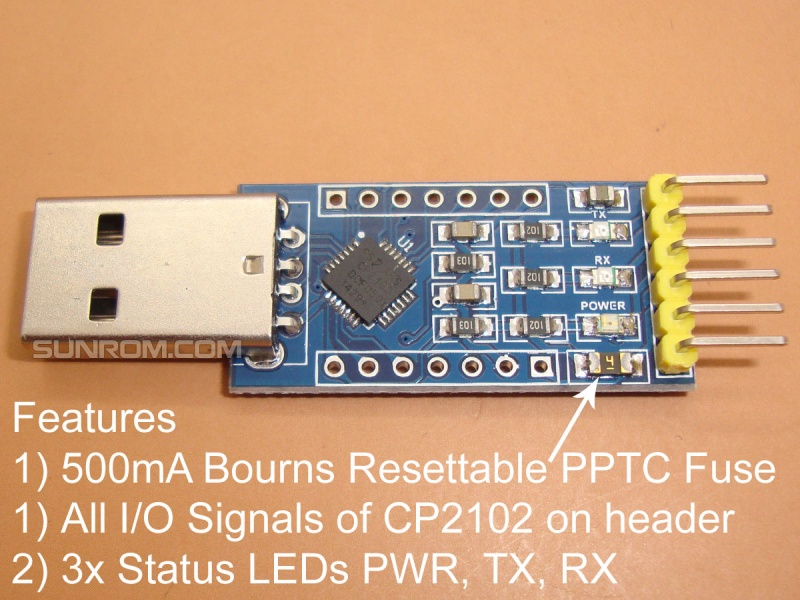 NEW DRIVERS: CP2101 USB TO UART