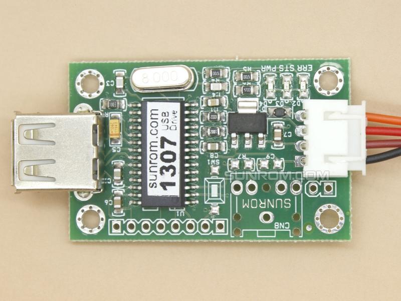 Serial UART to USB Pen Drive [1307] : Sunrom Electronics