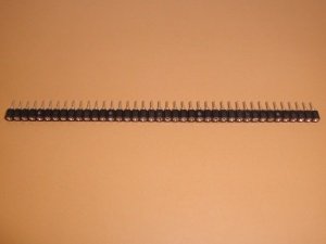 40x1 Socket Strip, Machine Round Pins