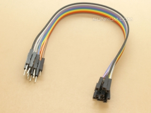 Jumper Wires - Male/Female - 10 way - 20cm (8 In)