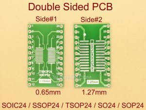 SOIC24 SSOP24 TSSOP24 0.65mm 1.27mm  SMD Adapter PCB