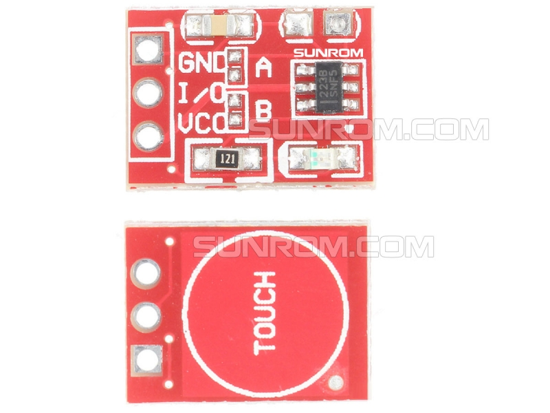 1 Channel Capacitive Touch Module - TTP223 [4481] : Sunrom