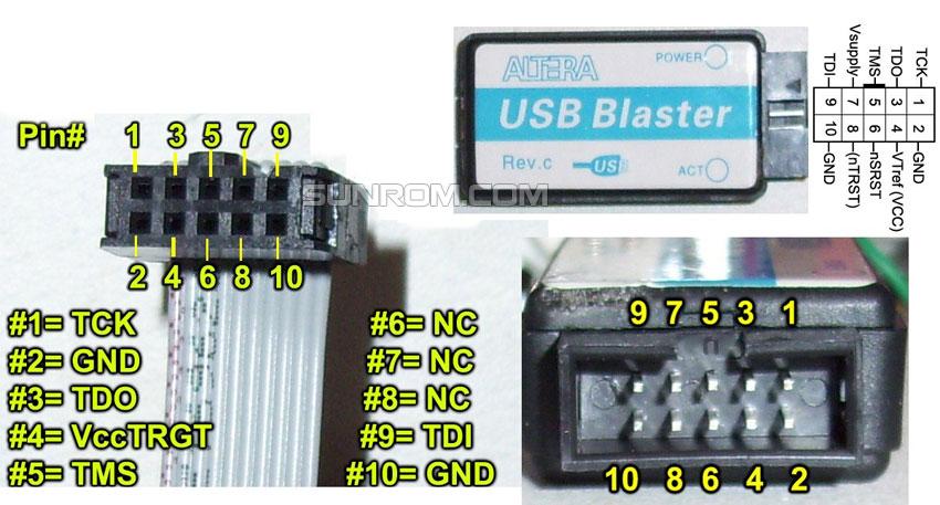 Altera USB Blaster - ByteBlaster II CPLD FPGA Download Cable