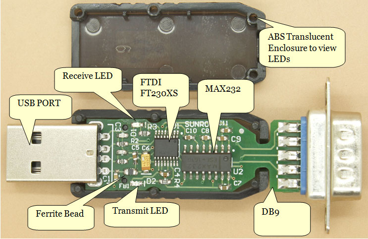 Usb to rs232 converter ftdi ft230x 1454 sunrom electronics related products publicscrutiny Choice Image