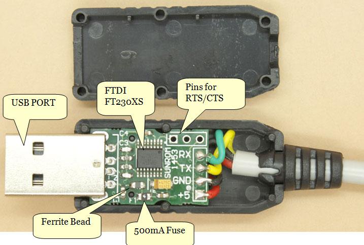 USB to TTL UART Cable - FTDI FT230X [1453] : Sunrom