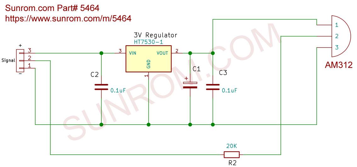 Micro Pir Motion Detection Sensor Am312  5464    Sunrom