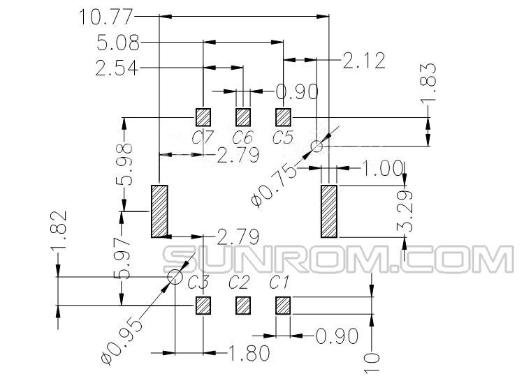 Nano Sim Card Socket 6 Pins Push In Type 5516 Sunrom