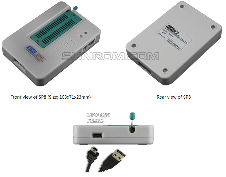 SOFI SP8-A - High speed USB programmer for Flash/EEPROM type 93/24