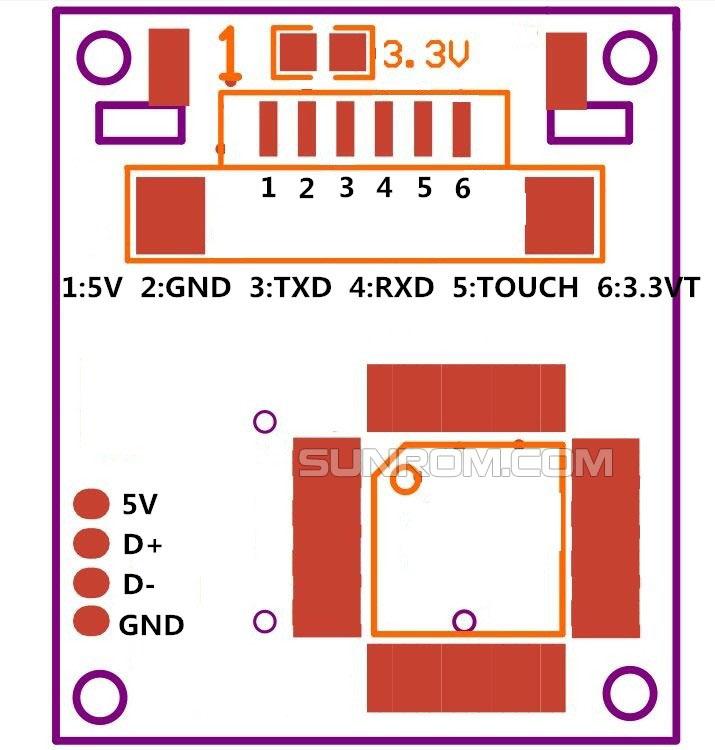Finger Print Sensor R307 (New R305) [5531] : Sunrom