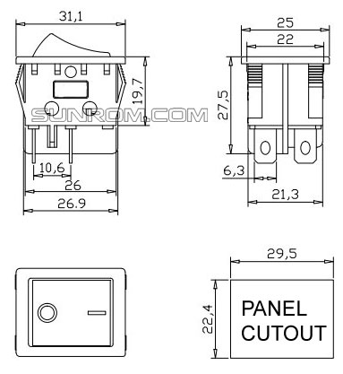 Green KCD4 Rocker Switch DPST ON-OFF 4 Pin 250V 16A 2400W ... on