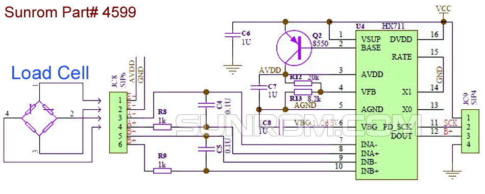 Loadcell Sensor 24 Bit Adc Hx711 4599 Sunrom