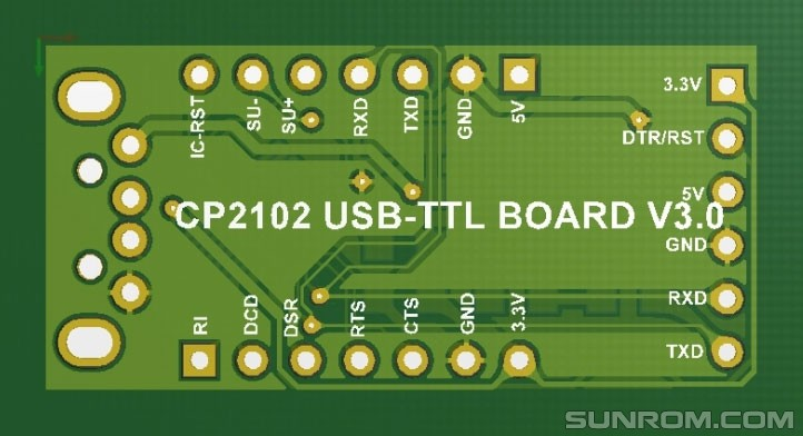 Usb Ttl Uart Module Cp2102 4313 Sunrom Electronics
