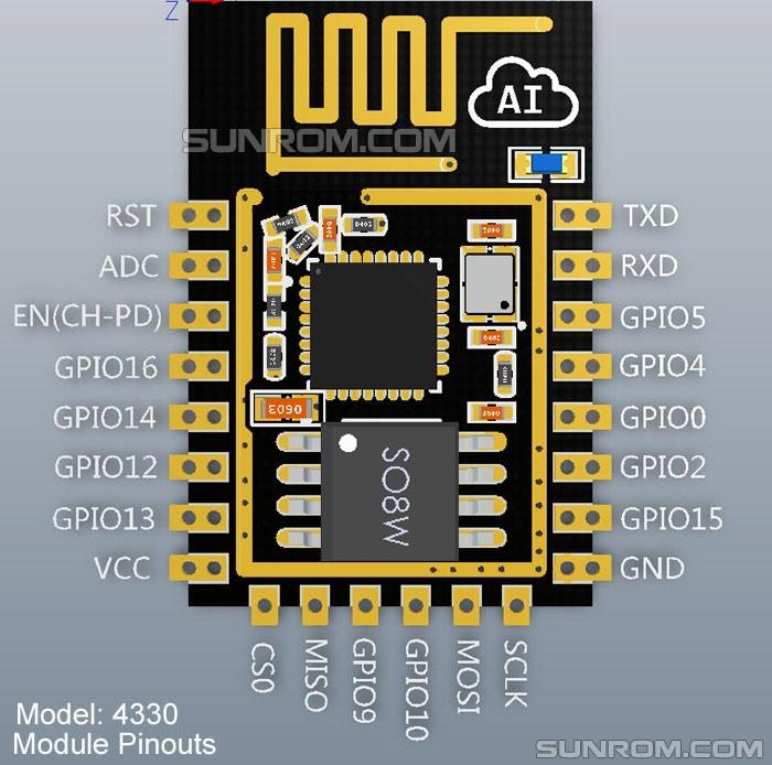WiFi Module - ESP8266 - PCB Antenna - ESP-12E [4330