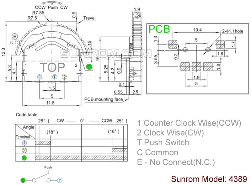 3 way navigation switch  4389    sunrom electronics