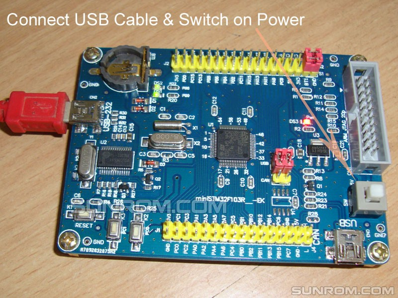 STM32F103RBT6 Dev Board [4059] : Sunrom Electronics/Technologies